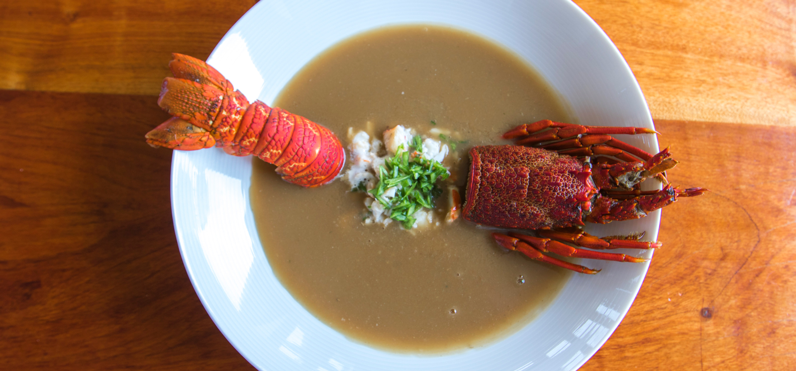 The famous Pelican Point Crayfish Bisque
