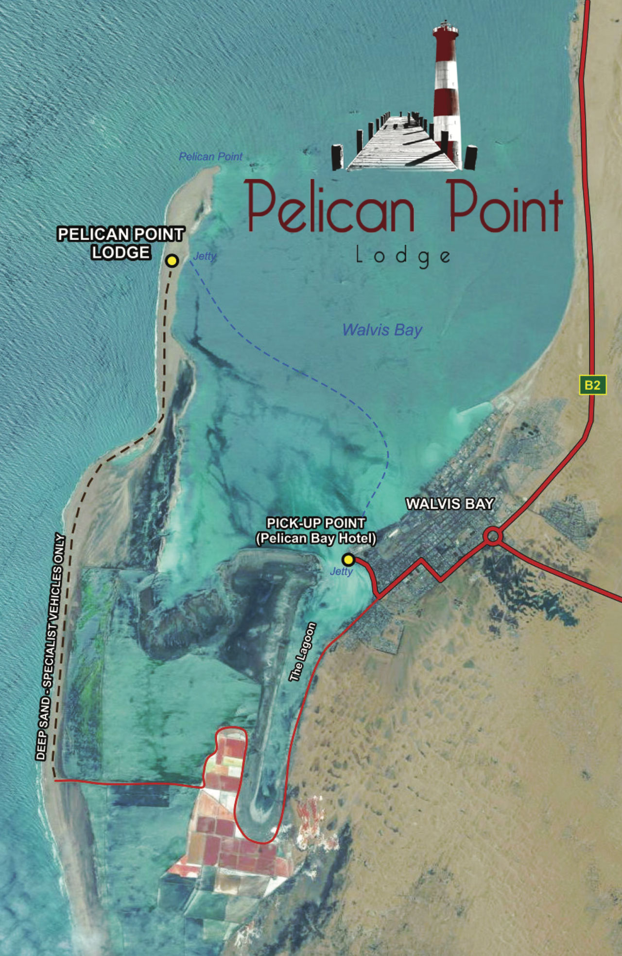 Map to Pelican Point